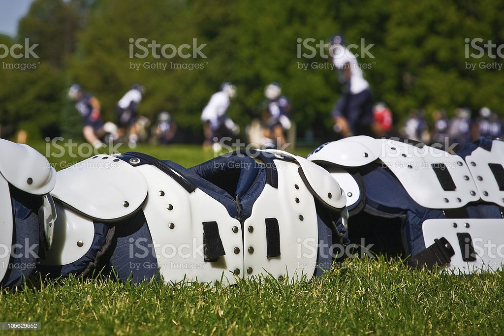 American Football Shoulder Pads stock photo