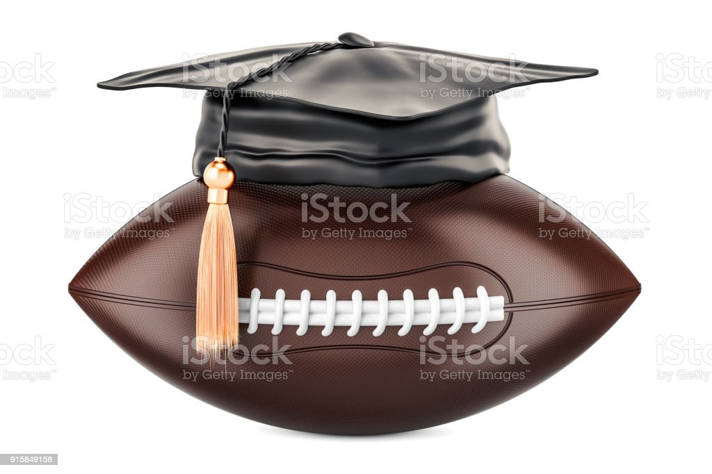 American football, sport education concept. 3D rendering isolated on white background stock photo