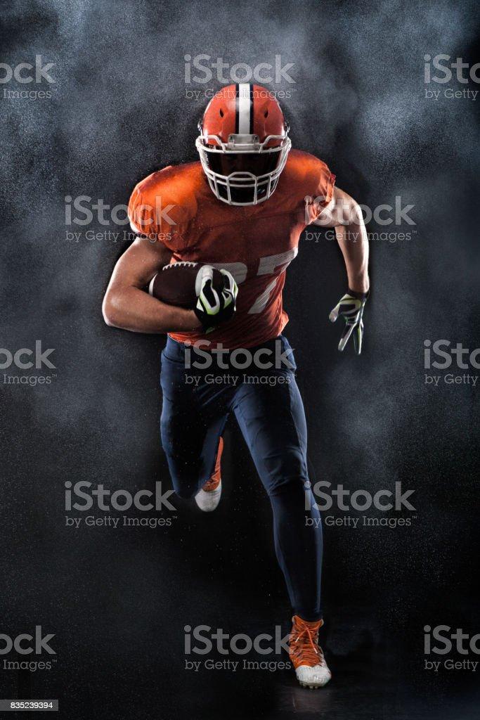 American football sportsman player stock photo