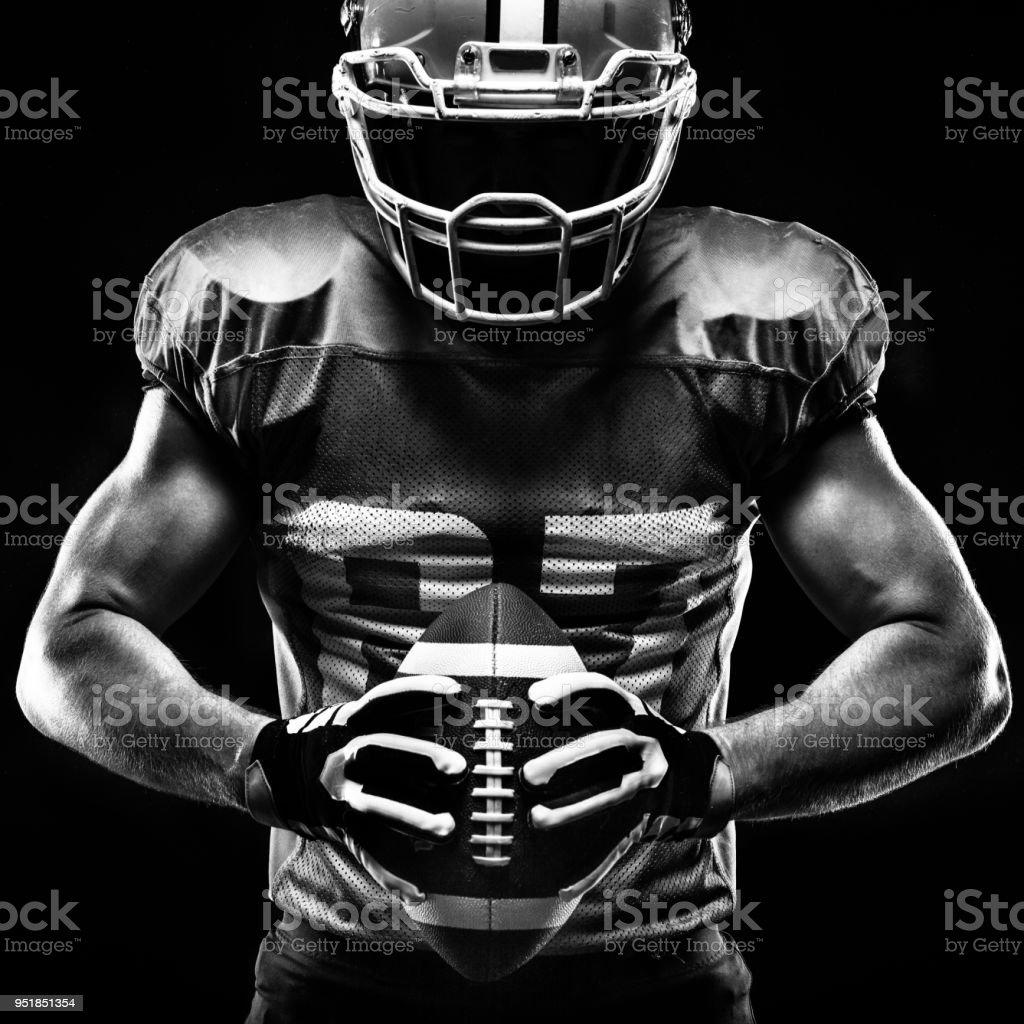 Joueur de football américain sportif - Photo