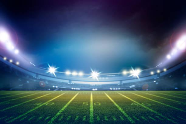 american football stadium 3D stock photo