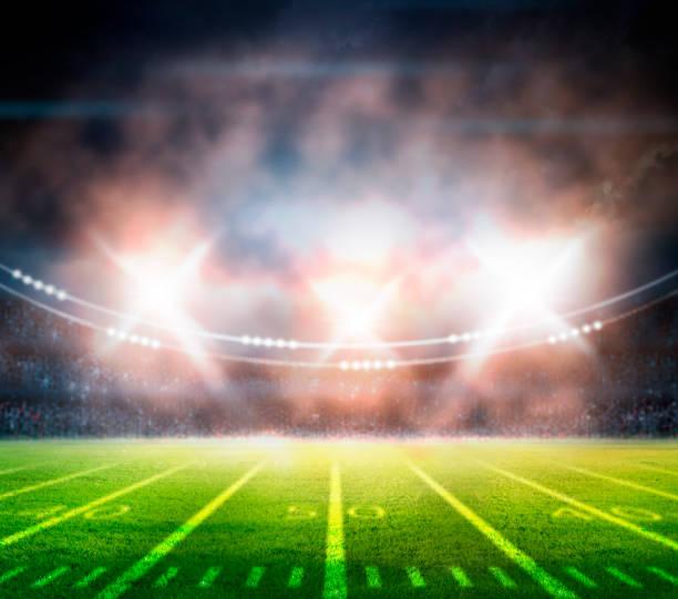 american football stadium 3D. stock photo
