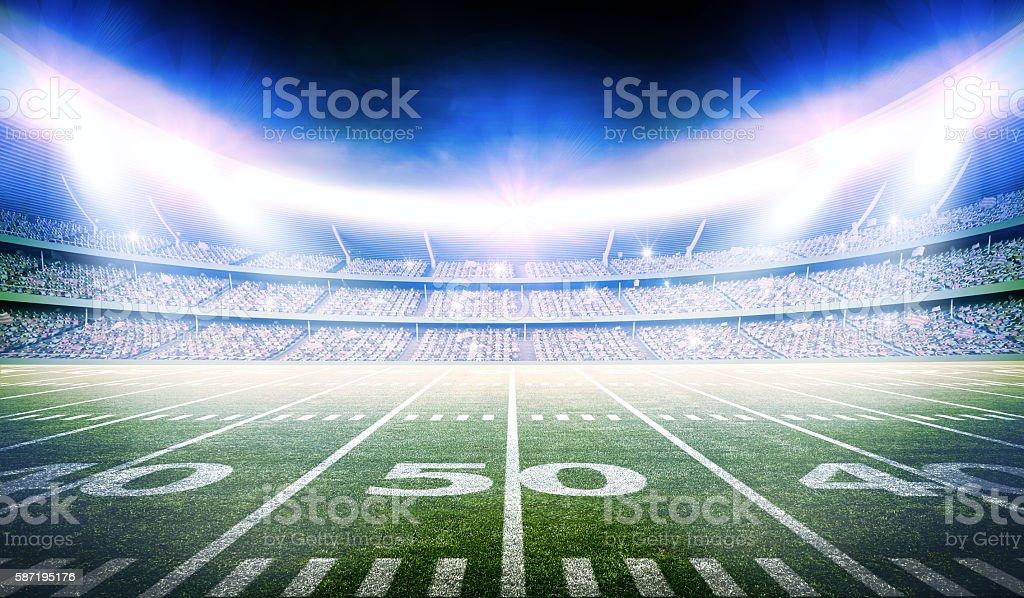 american football stadium 3d – Foto