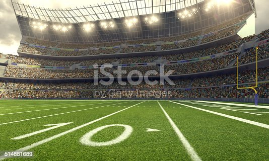 Image of 	American Football Stadium in lights and flashes