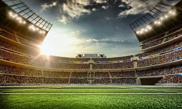 american football stadion - amerikanischer football stock-fotos und bilder