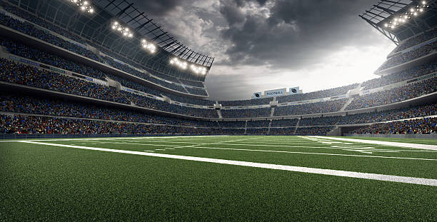 American football stadium American football stadium american football field stock pictures, royalty-free photos & images