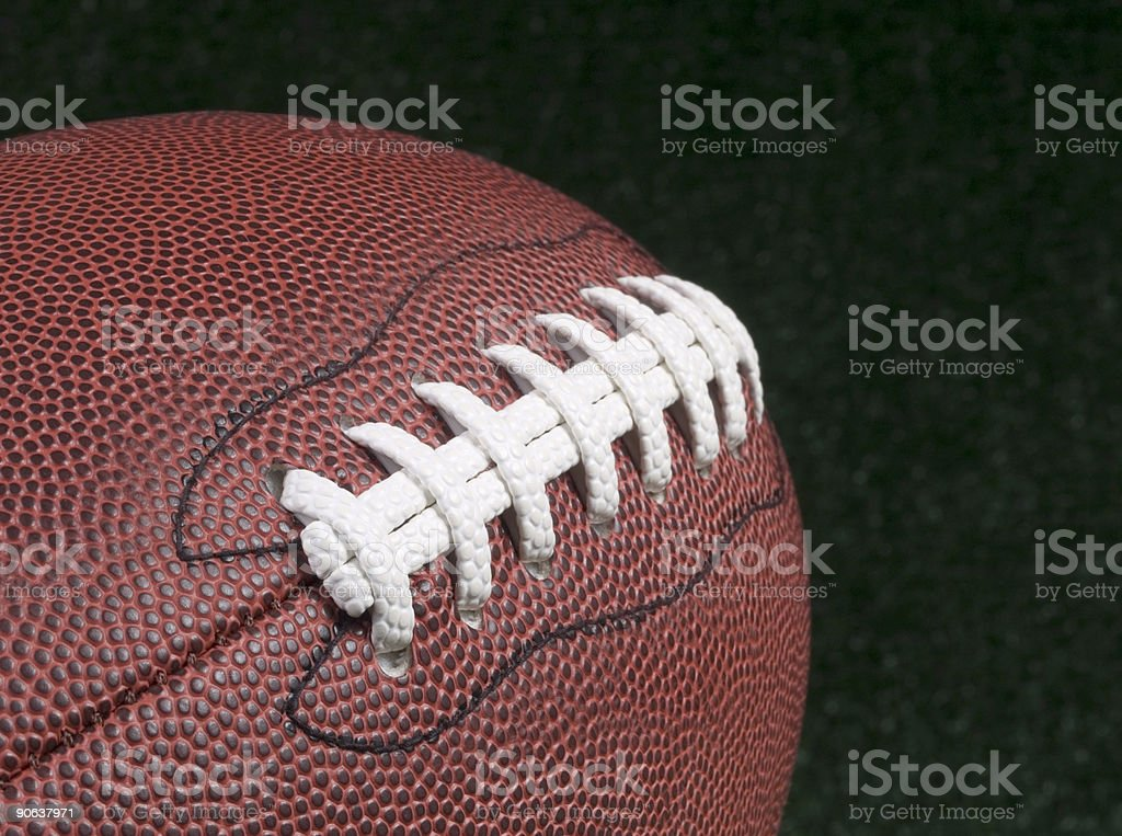 American Football Stiches royalty-free stock photo