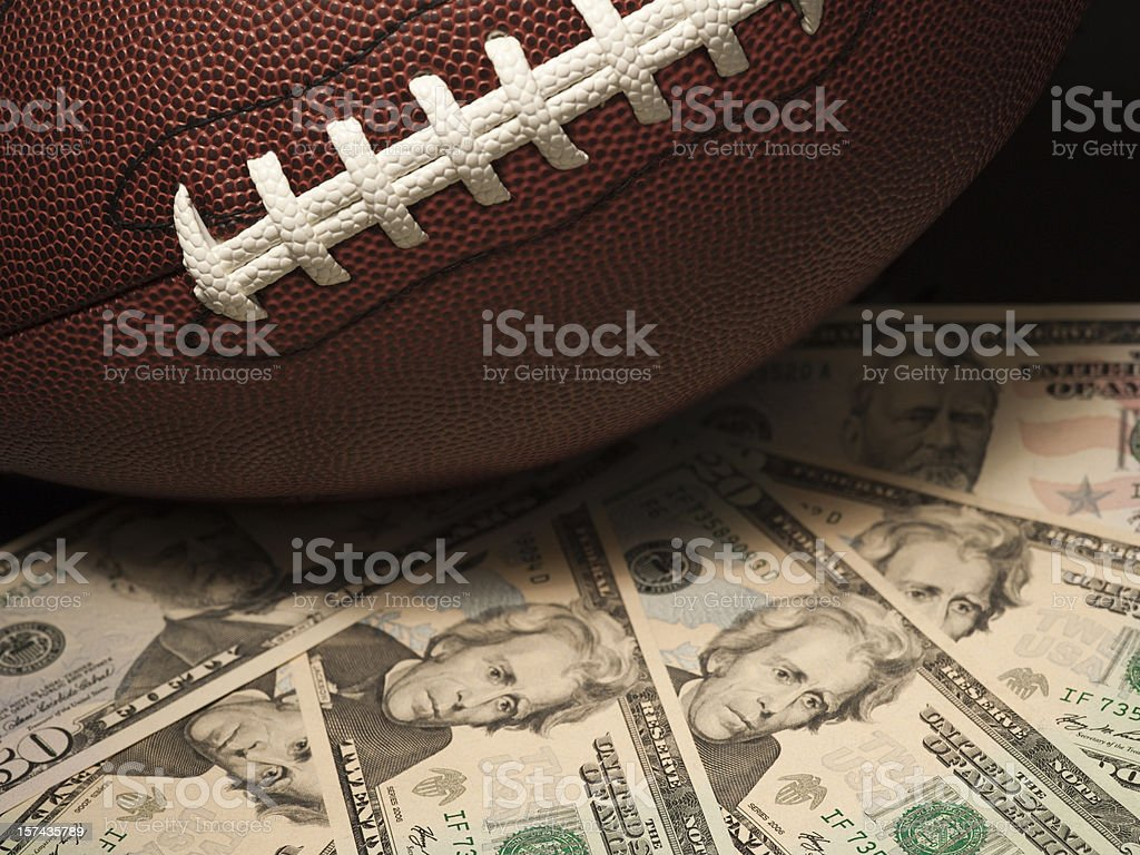 American football Superbowl gambling royalty-free stock photo