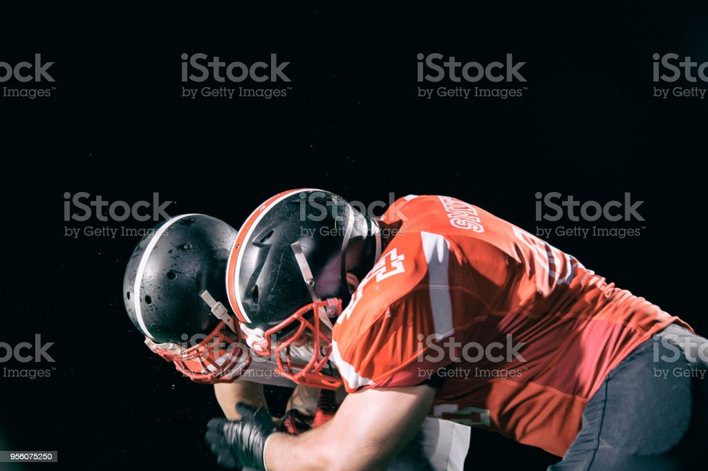 American football - tackle stock photo