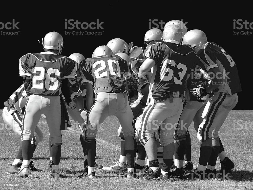 American football team royalty-free stock photo