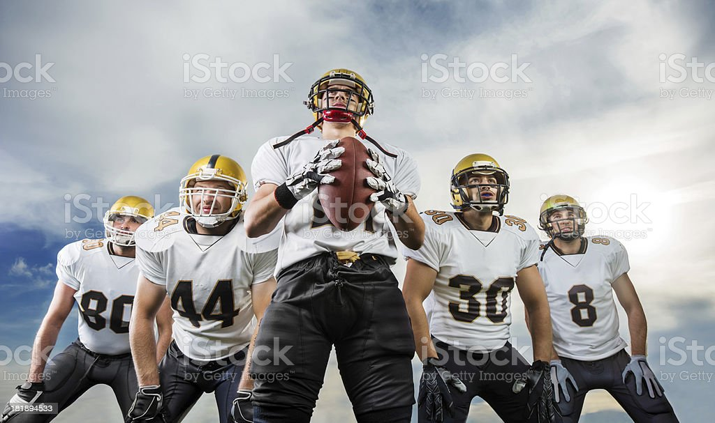 American Football team. stock photo