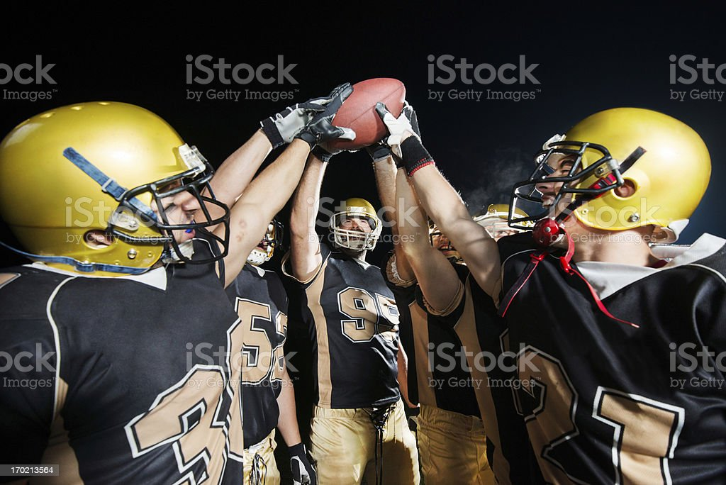 American Football teamwork. royalty-free stock photo