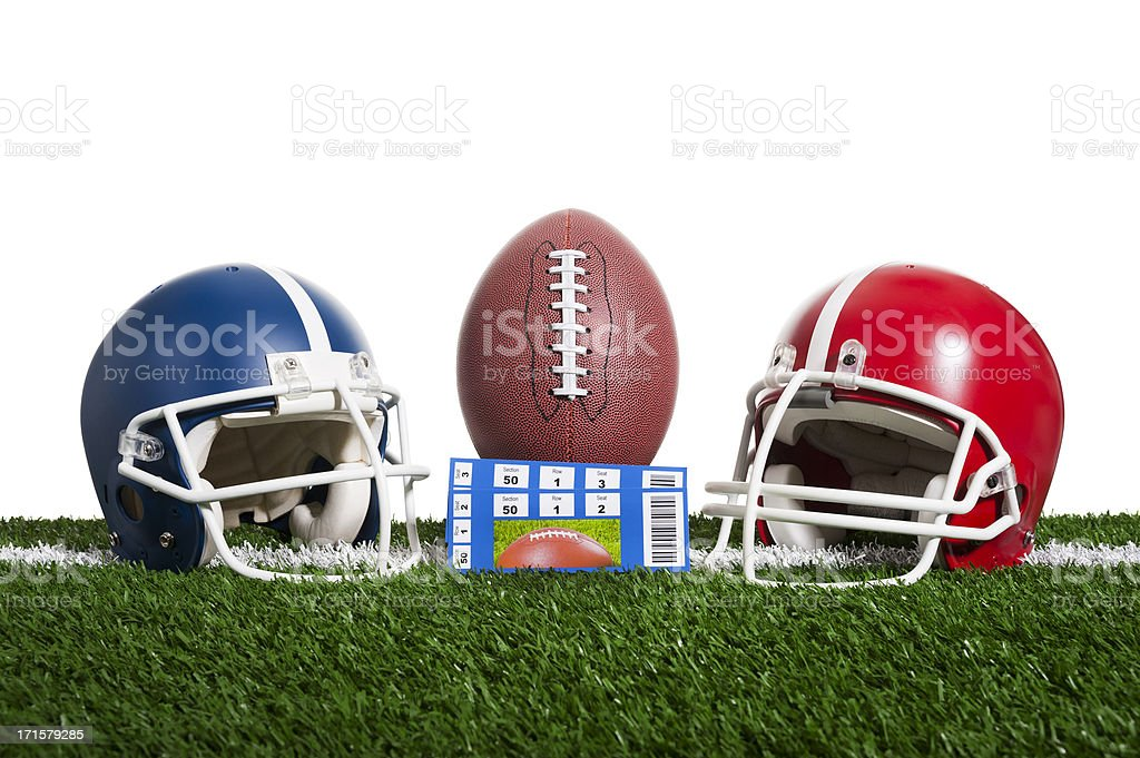 American Football - Tickets, A low angle view of a pair of ticket...