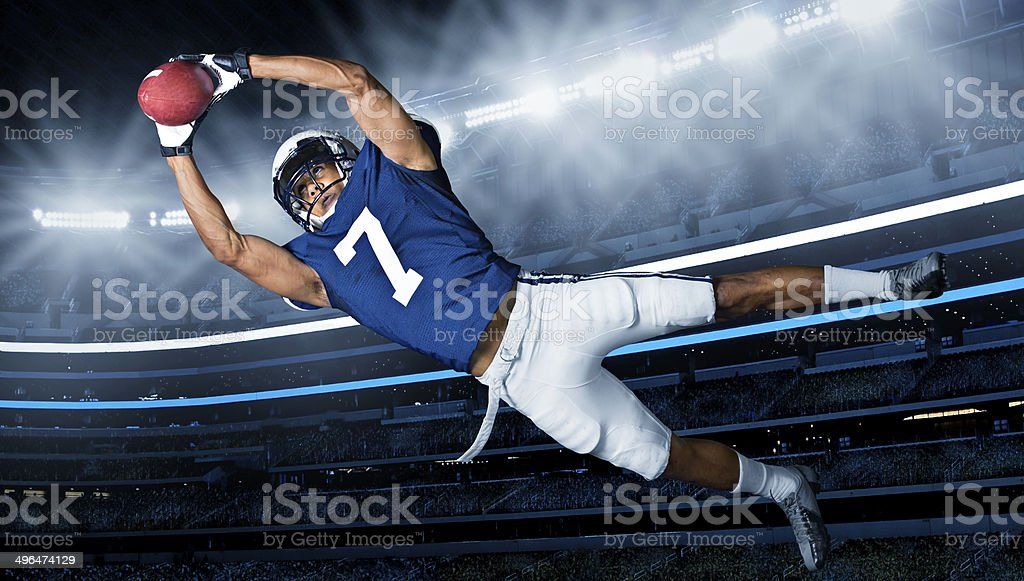 American Football Touchdown Catch stock photo