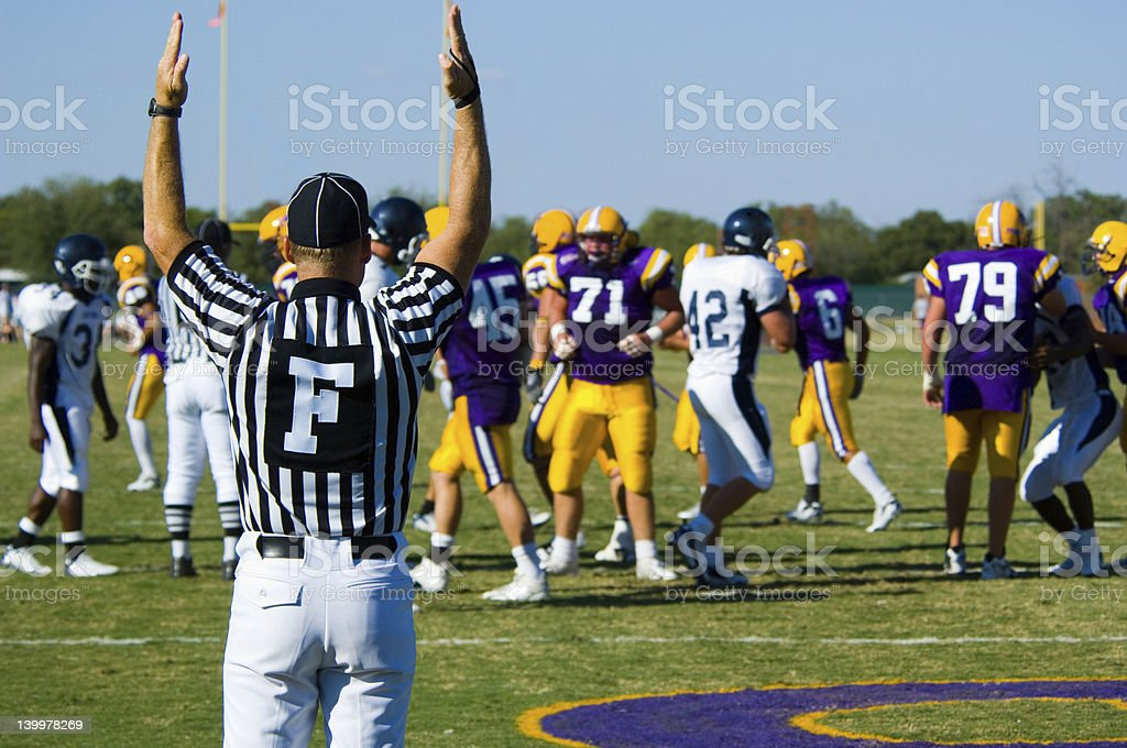 American Football - Touchdown with offcial stock photo