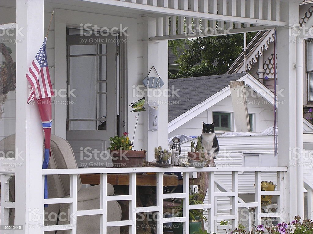 American Front  Porch royalty-free stock photo