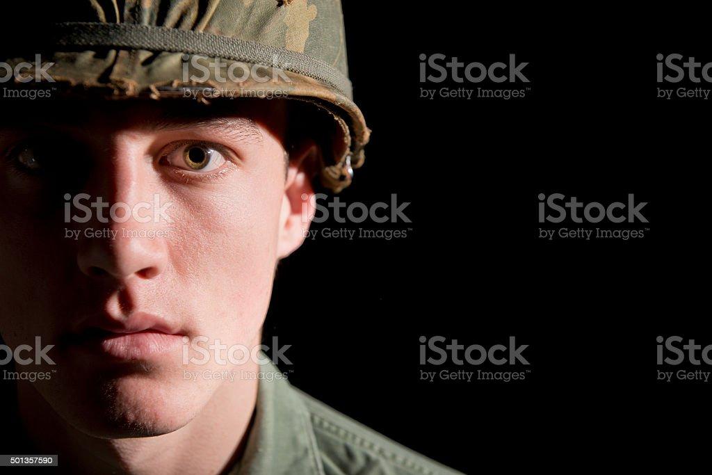 American G.I. La guerra de Vietnam - foto de stock