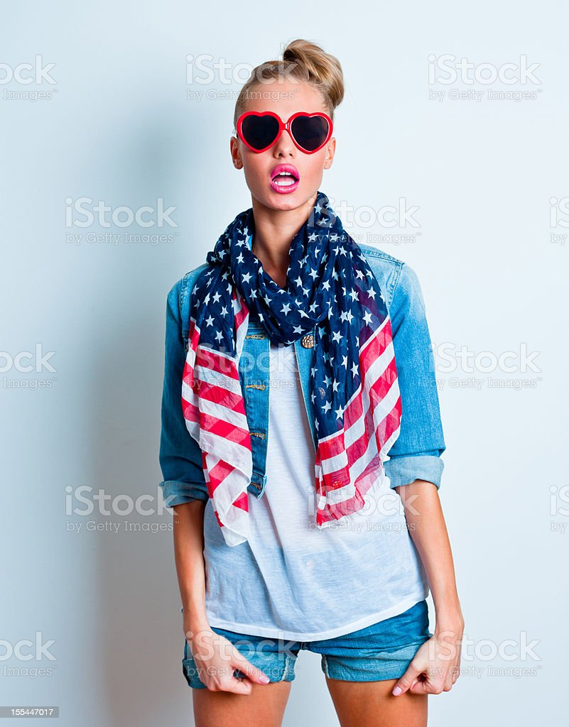 American girl stock photo