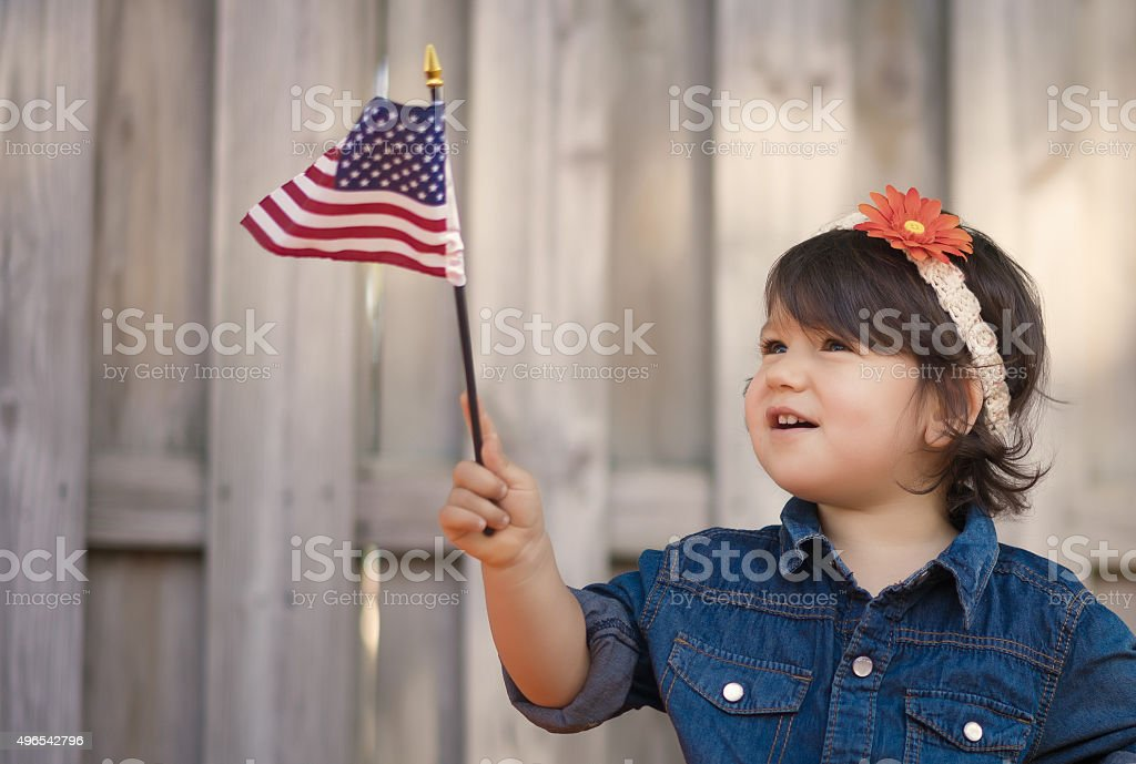 American girl stock photo
