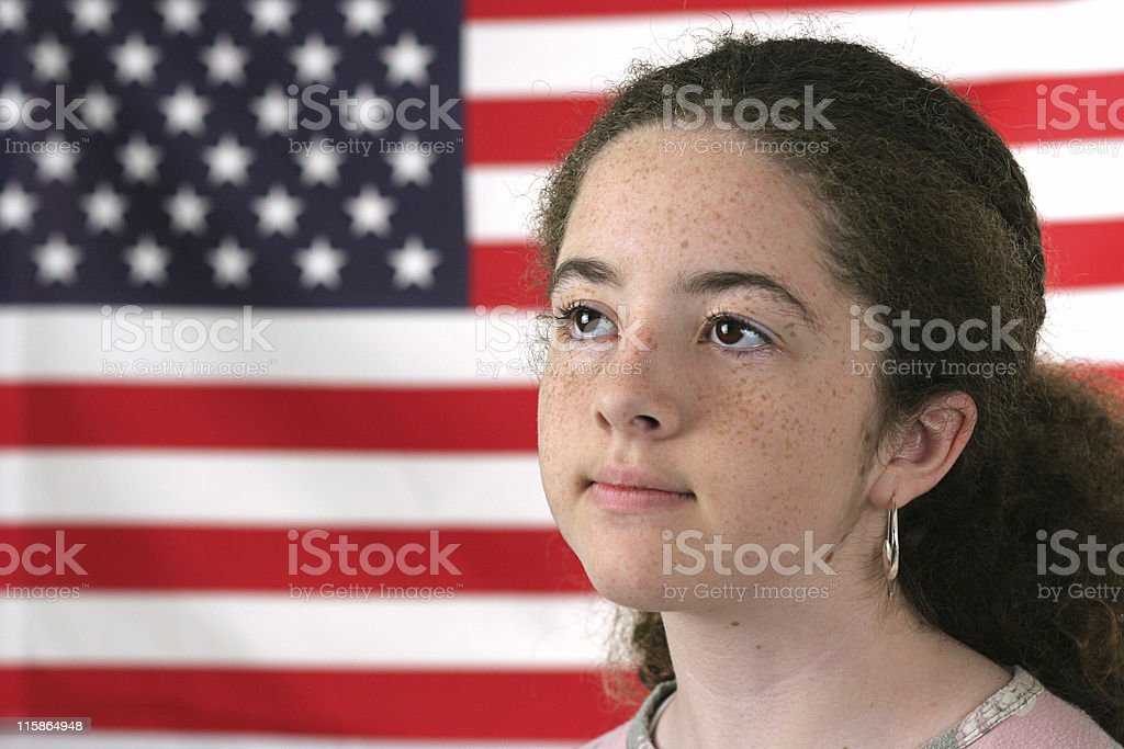 American Girl Reverent royalty-free stock photo