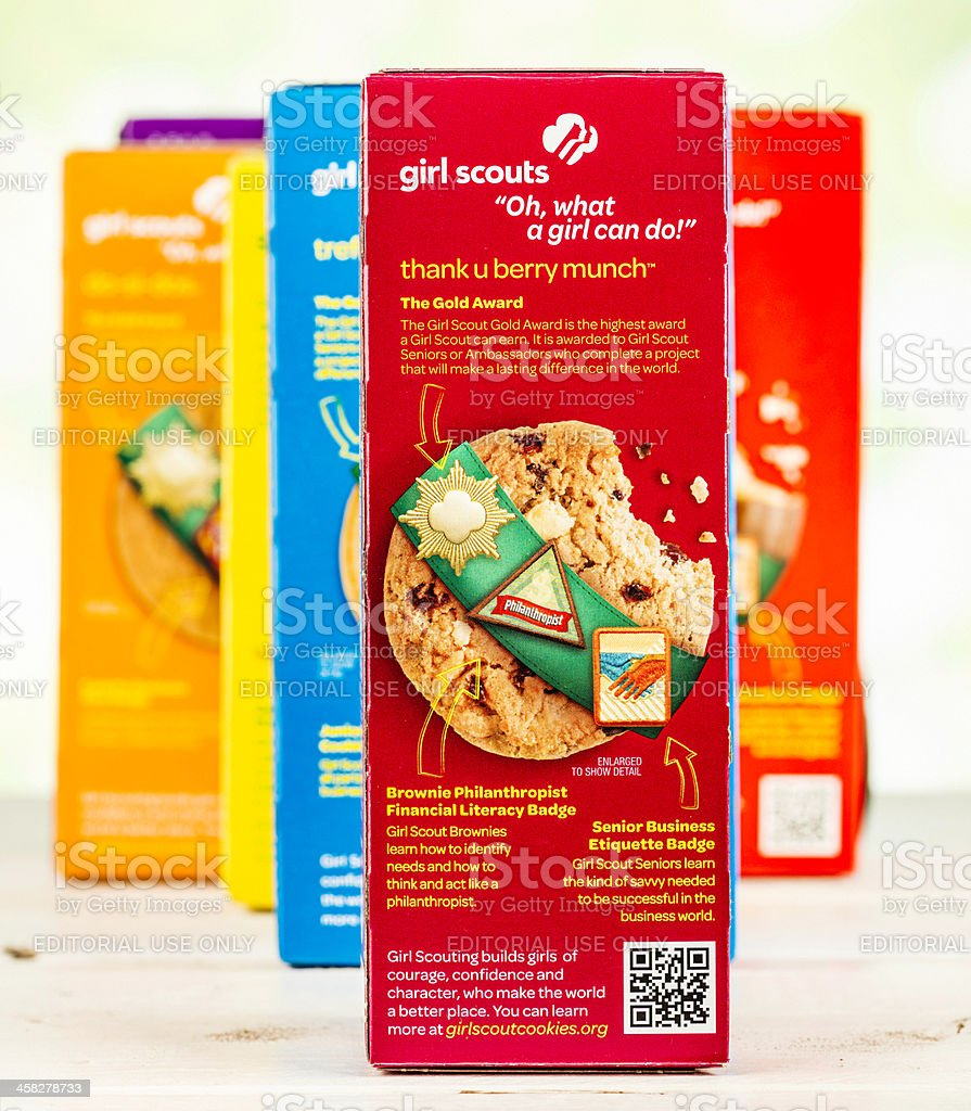 American Girl Scout Cookies stock photo