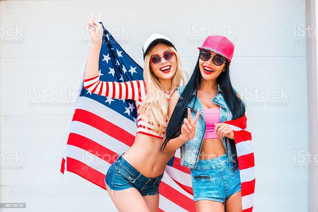American girls. stock photo