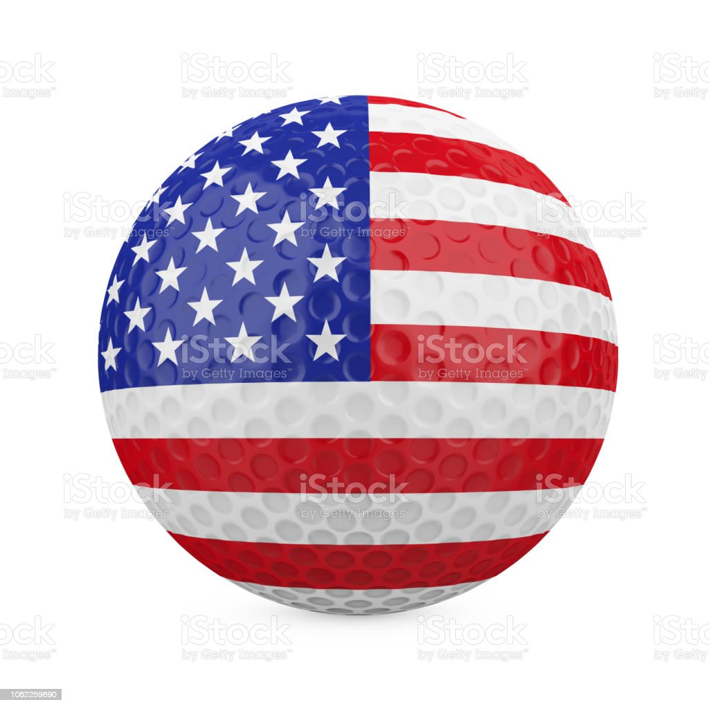 American Golf Ball Isolated stock photo