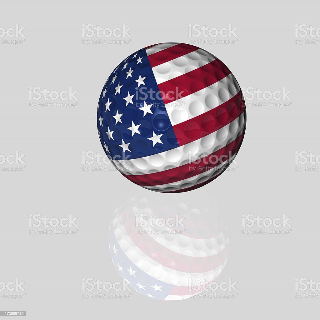 american golf ball stock photo