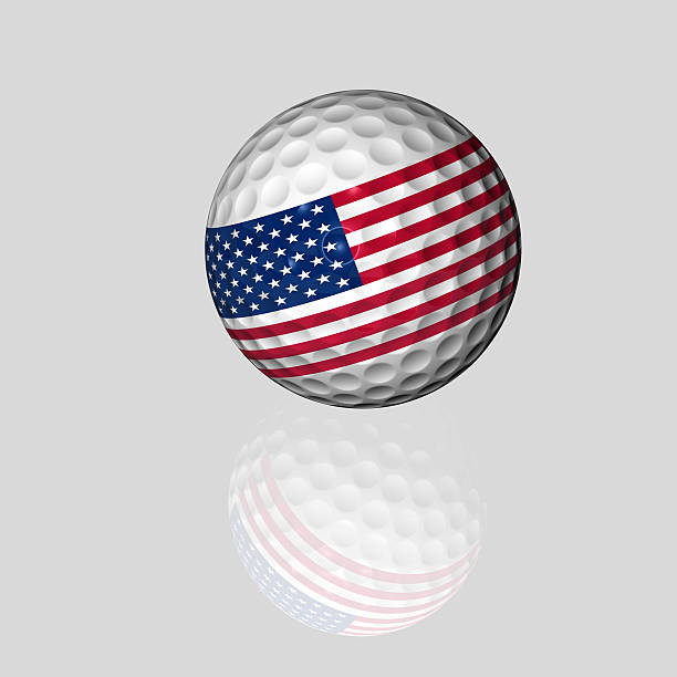 american golf ball stock photo