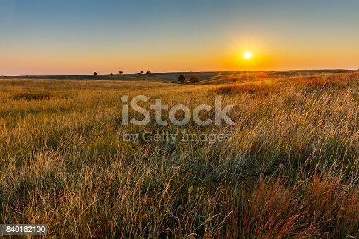 Great Plains Prairie at Sunrise