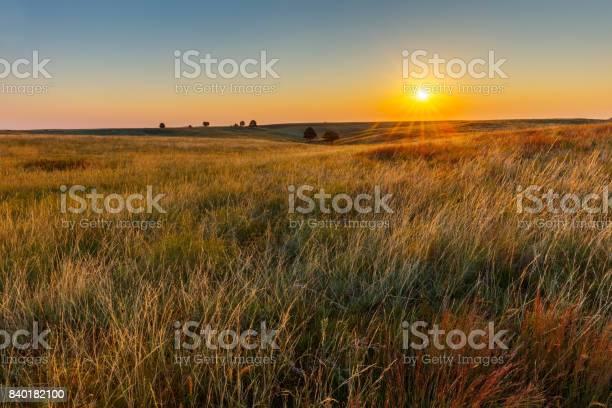 Photo of American Great Plains Prairie at Sunrise