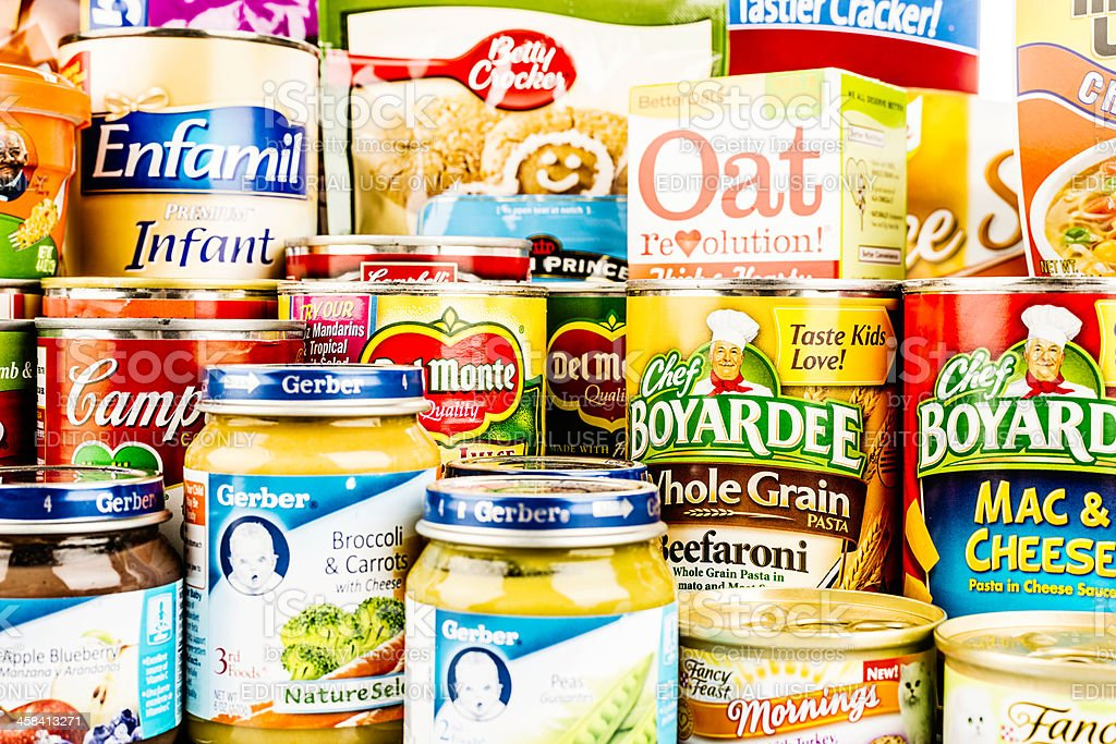 American Grocery Collection royalty-free stock photo