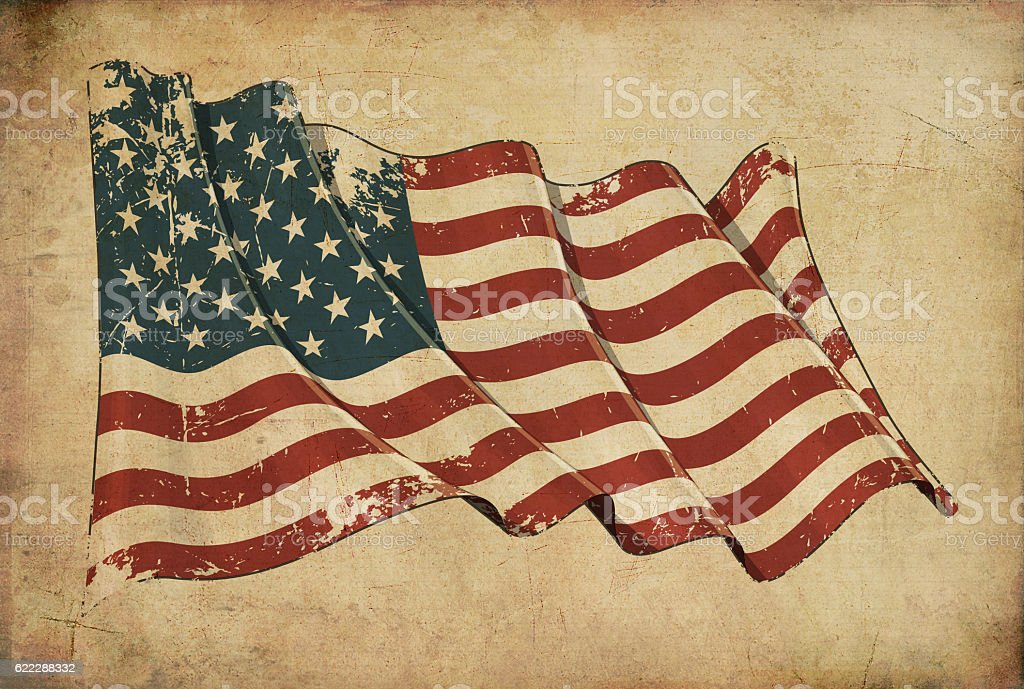 American Grunge Flag Textured Background Wallpaper stock photo