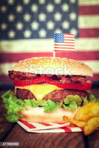 istock American Hamburger 477365560