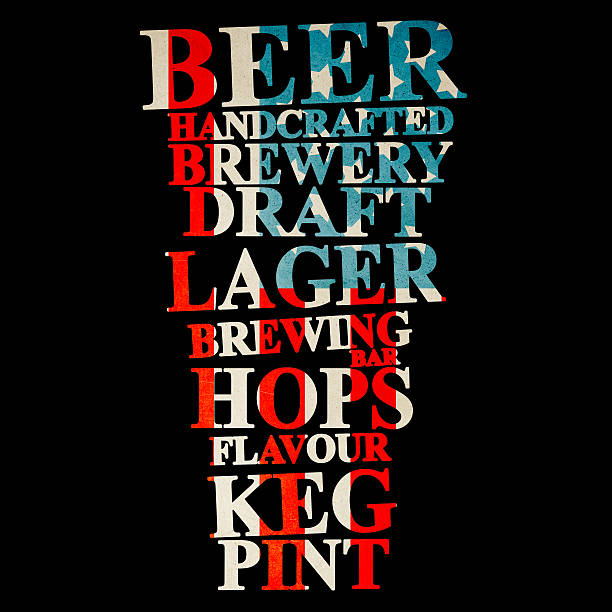 American Handrafted Beer Creative Ad stock photo