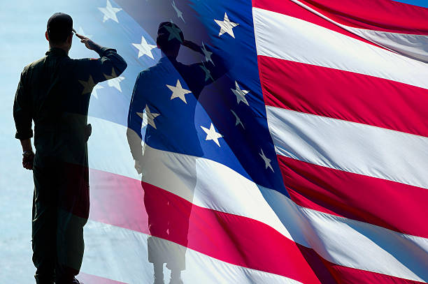 american heroes ii - saluting stock photos and pictures