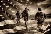 istock American Heroes - WWII Combat Soldiers Composite 474858774