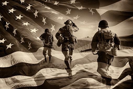 American Heroes - WWII Combat Soldiers Composite