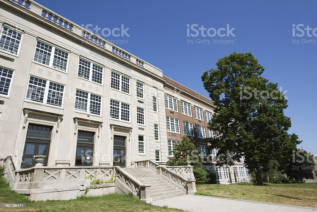 American High School Building royalty-free stock photo