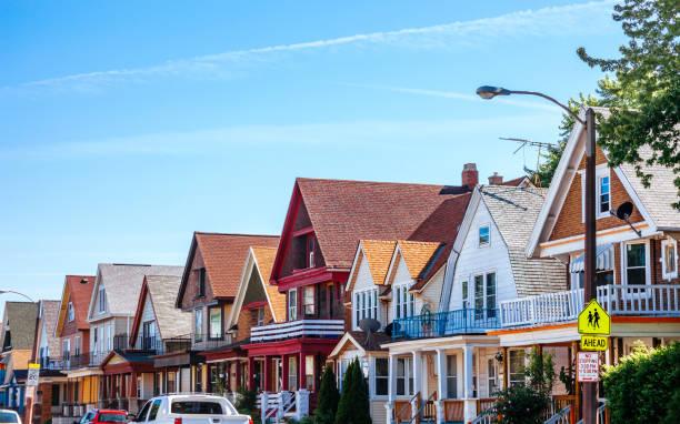 American homes - Milwaukee, Lower East Side stock photo