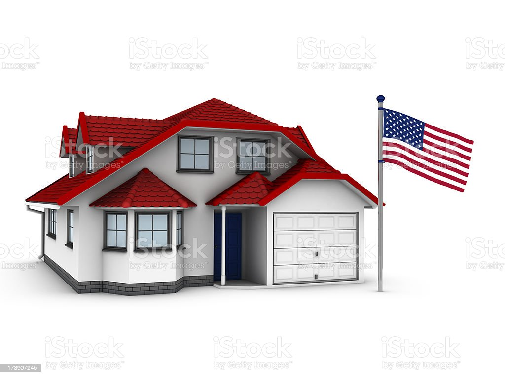 American House royalty-free stock photo