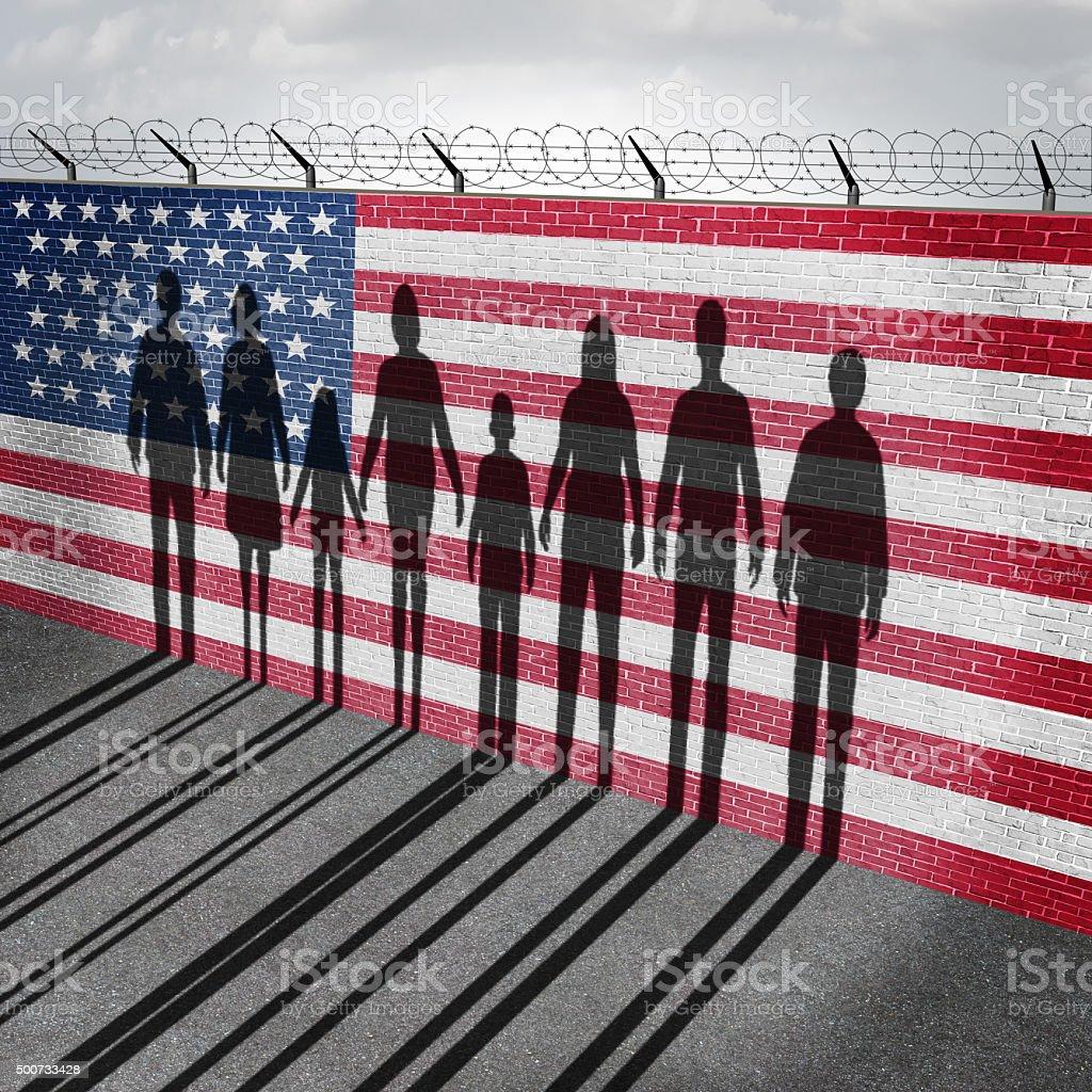 A imigração americano - fotografia de stock