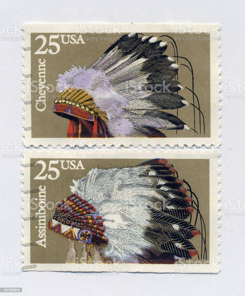 American Indian Head Dress royalty-free stock photo