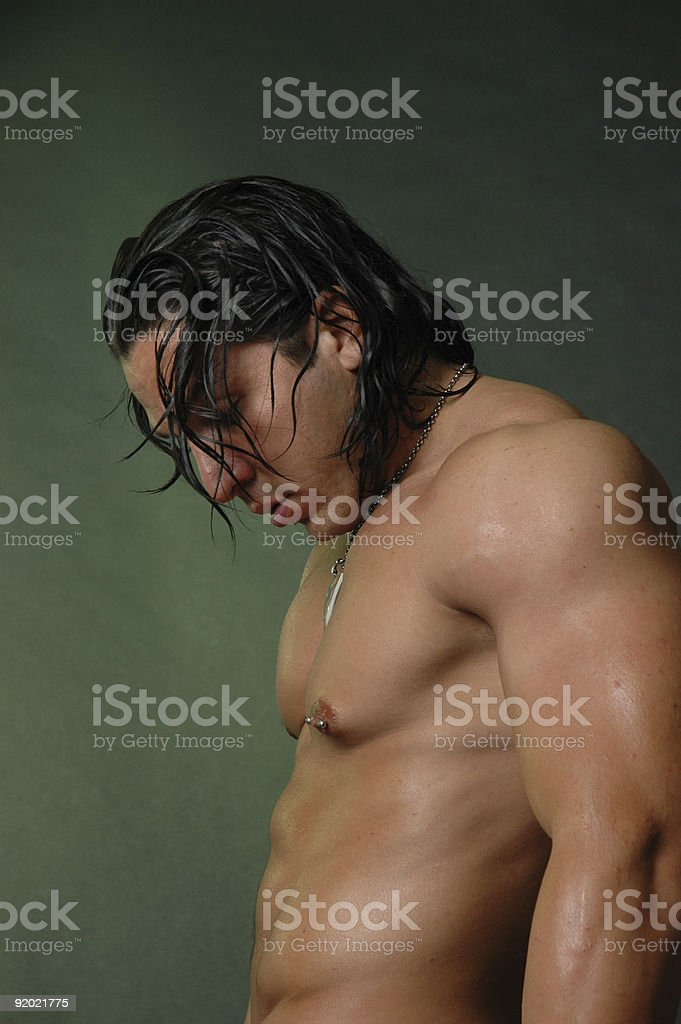 American Indian male stock photo