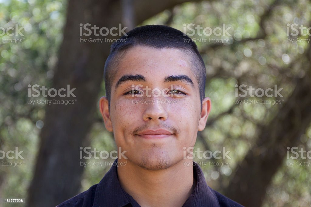 American Indian Teenage Boy Portrait stock photo