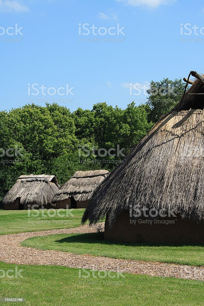 American Indian Village royalty-free stock photo