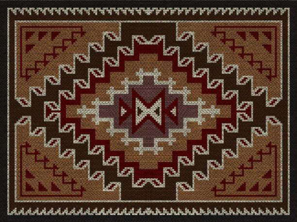 American Indians tribal blanket pattern. stock photo