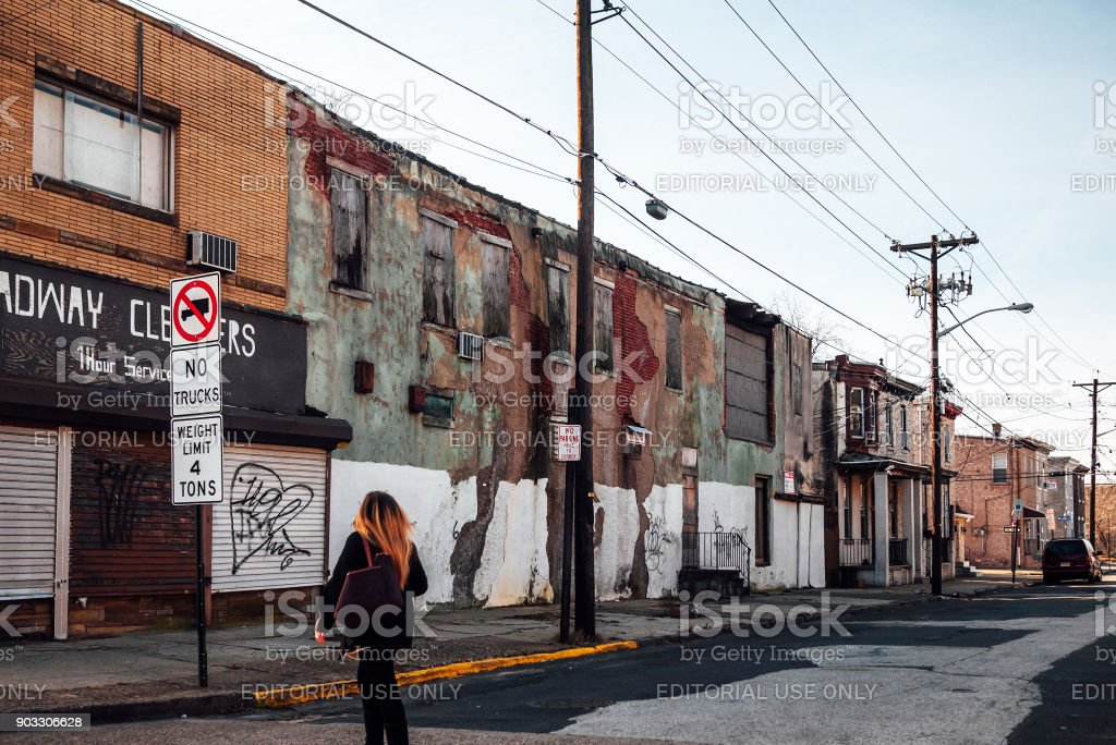 American Inner City - Camden, NJ stock photo