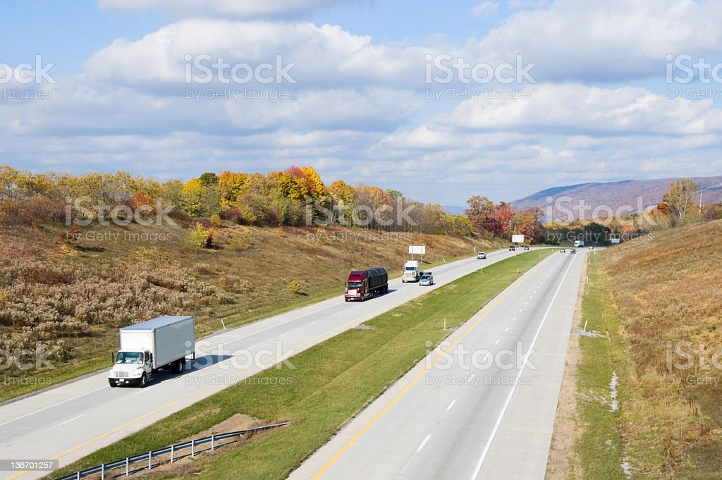 American Interstate Highway royalty-free stock photo