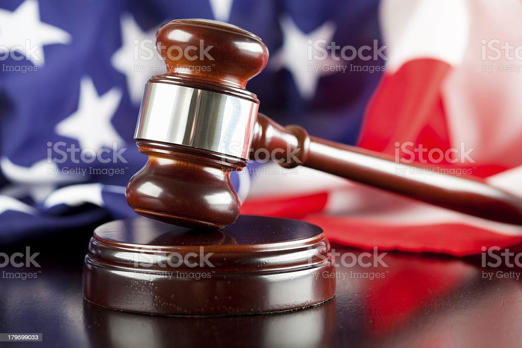 American Judicial System royalty-free stock photo